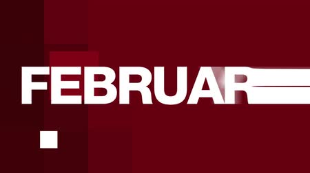 календарь : Animated FEBRUARY text in various fast paced edits. See more variations of this series in my portfolio.-