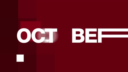 október : Animated October text in various fast paced edits. See more variations of this series in my portfolio.- Stock mozgókép