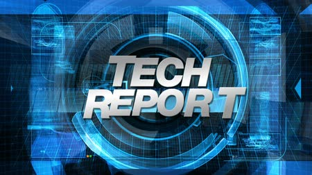 сообщить : Tech Report graphic main title, videos and images in the background.