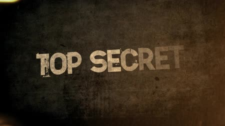 Top Secret, Classified, Confidential - Titles. Key words perfect for movie trailers and promos.  Vídeos