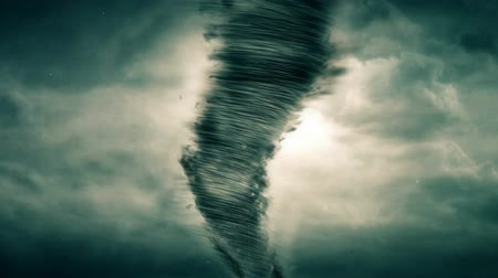 deszcz : Tornado 3D animation with stormy clouds in the background. Wideo