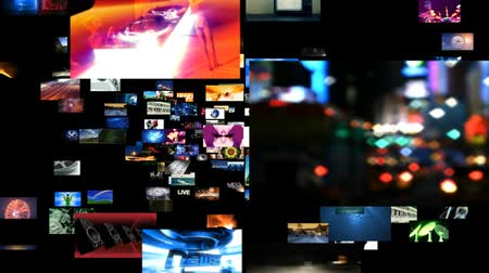 broadcast video : Various videos on a video wall. This video can be looped seamlessly