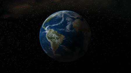 other planet : High resolution 3D render of Earth rotating at 360 degrees per 30 seconds. Stars in background, atmosphere around edge. Much slower and relaxed than the 10 second versions. HD 1080 seamless loop. -