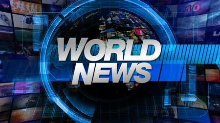 World News graphic main title, videos and images in the background. All videos in background available in my portfolio as separate elements. All releases on file.-