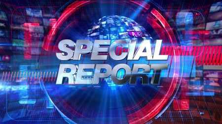news tv : Special Report - Broadcast Graphics Title Animation 4K Stock Footage