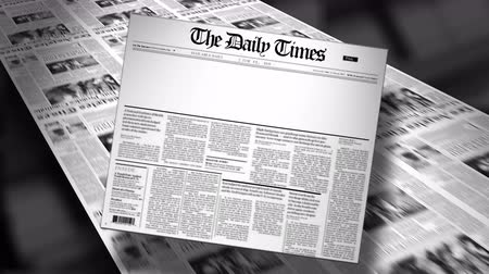 gazeta : Blank Newspaper Headline Reveal and Loop 4K HD Animation Wideo