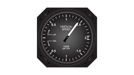 Aircraft vertical speed indicator animated video