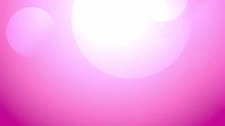 White Bokeh on Pink Purple Colorful Motion Backgrounds. Large blurred bokeh lights background. Abstract circle background animation soft defocused blurred light leak color lights Stock Footage