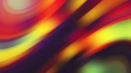 Abstract Multicolored Lights Wave Stripes Background with Motion Gradient and Glows Seamless Loop. Motion beautiful Futuristic Designed Liquid background rainbow animation trendy color. Stock Footage