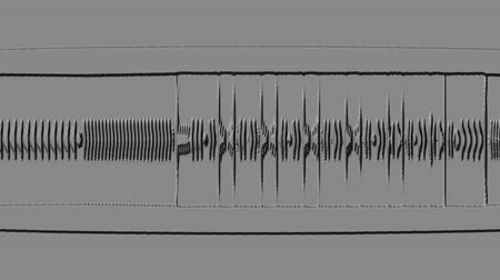 denteado : A computer generated animation of a stylized waveform