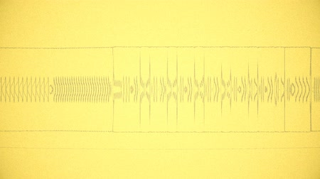 A computer generated animation of a stylized waveform