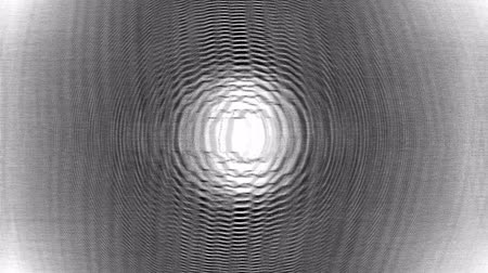 A computer generated animation of flickering glitching concentric circles Wideo