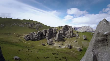 moğolistan : Fly over the mountains Stok Video