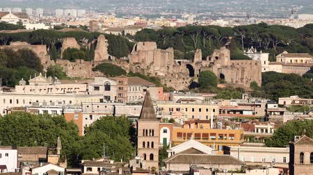 palatine : Rome - Augustus Imperial Palace on the Palatine Hill Stock Footage