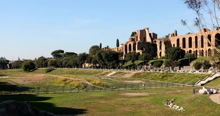 palatine : Rome, Circus Maximus 4k real video Stock Footage