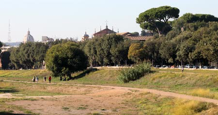 augustus : Rome, Circus Maximus 4k real video Stock Footage