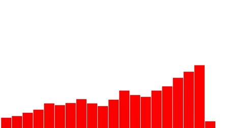 infografik : Four types of animated red graphs Stok Video