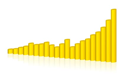 планировка : Four types of animated yellow graphs