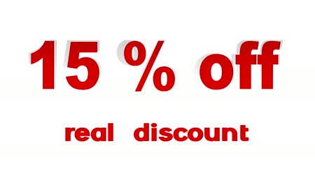 procent : 15% Off Real Korting promotionele teken (lus)