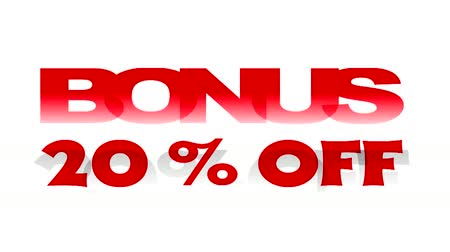 procent : Bonus 20% korting op geanimeerde promotionele sign