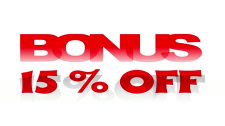 procent : Bonus 15% korting op geanimeerde promotionele sign