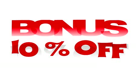 procent : Bonus 10% korting op geanimeerde promotionele sign