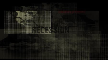 bearish : Economic crisis animated background