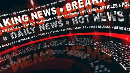 news world : Breaking News - pivotée Words Vidéos Libres De Droits