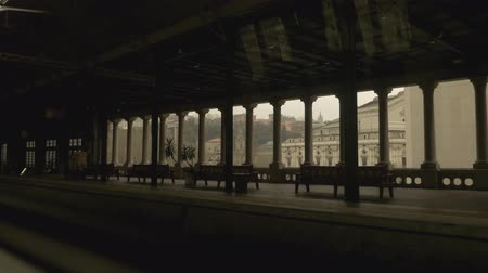 vizcaya : Leaving Bilbao city by train