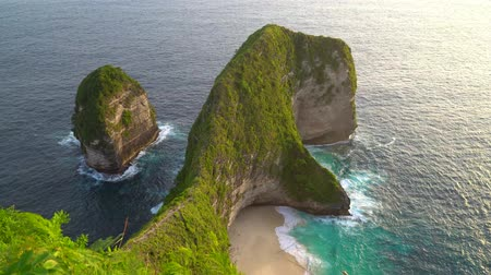 gigante : Kelingking Beach, Nusa Penida, Indonesia Stock Footage