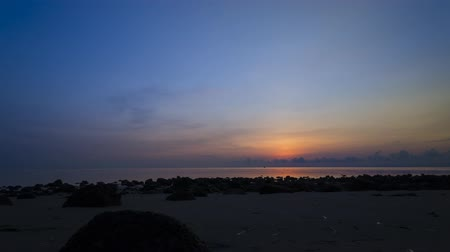 east timor : Timelapse of Ocean and coastal landscapes during sunrise at Atauro Island, Timor Leste