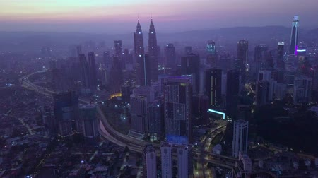 KUALA LUMPUR, MALAYSIA - AUGUST 16, 2019: 4K UHD footage of Kuala Lumpur city scape in the morning captured using drone Dostupné videozáznamy