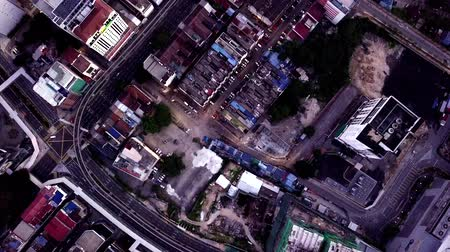 4K UHD footage top down view of Kuala Lumpur city scape in the morning captured using drone Stock Footage