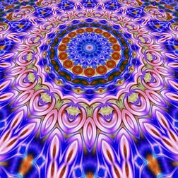 плитка : Unique rendering, Abstract exotic animation, Fantastic design, Colorful digital art, geometric kaleidoscope Стоковые видеозаписи