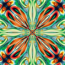 orientale : Unique rendering, Abstract exotic animation, Fantastic design, Colorful digital art, geometric kaleidoscope Stock Footage