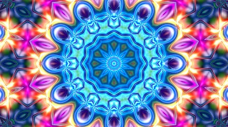 Unique rendering, Abstract exotic animation, Fantastic design, Colorful digital art, geometric kaleidoscope Dostupné videozáznamy
