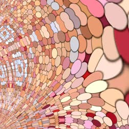 orientale : Unique rendering, Abstract animation, Fantastic design, Colorful digital art, geometric texture