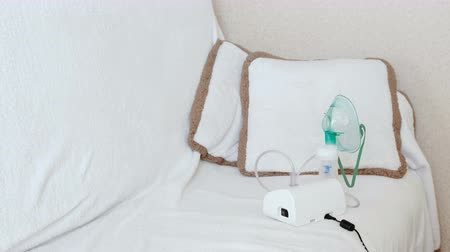 podmínky : Place for using nebulizer and inhaler for the treatment.