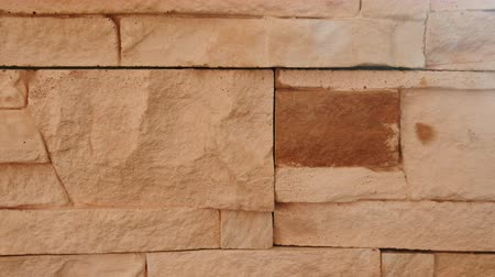 estuque : Brick terracotta wall texture. Closeup.