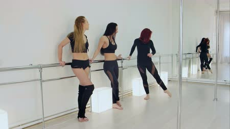 flexibility : Dancers resting in studio