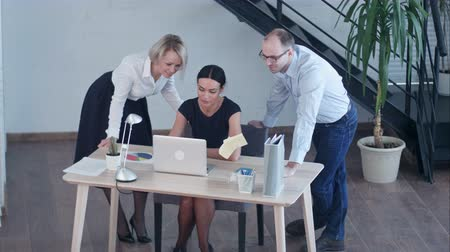 notion : Business people showing team work while working in board room in office