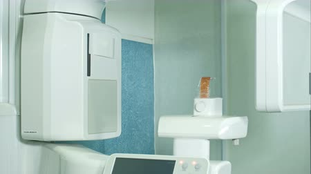 computed : Dental X-Ray scanner in clinic Stock Footage
