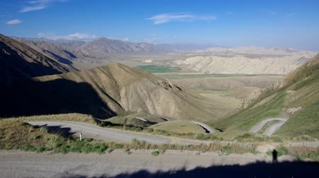 silk road : Kaldama pass, 3062 m, Mountain road district of Jalal-Abad Region in western Kyrgyzstan.