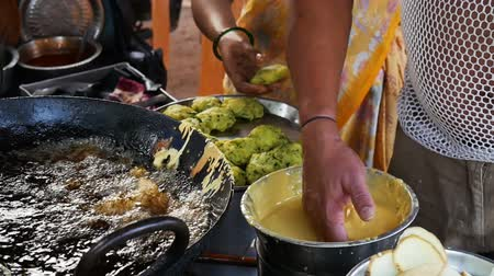 Indian street food Wideo