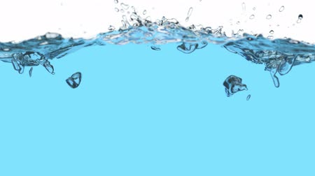 enchimento : Water is filling the screen, 3D animation with alpha mask