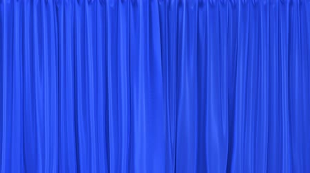 rolety : Stage or window textured blue curtains realistic 3D animation, chroma key and alpha matte are included