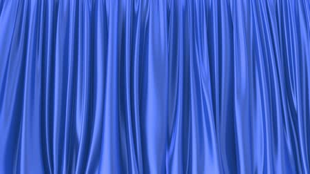atlaszfényû : 3D animated intro of the blue window curtain, alpha matte is included
