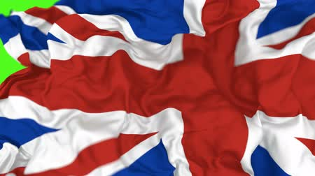 evropská unie : 3D animated transition of National flag of the United Kingdom of Great Britain and Northern Ireland, alpha mask is included Dostupné videozáznamy