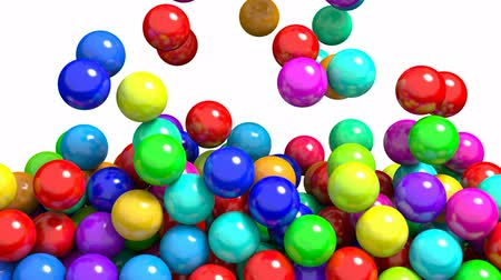 goma : 3D animation of the colorful gum balls or candies transition, alpha matte is included
