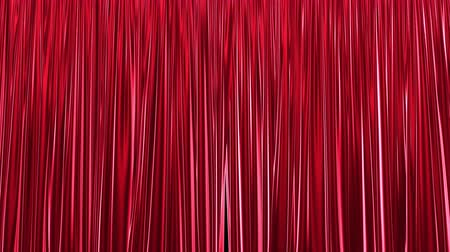 luxaflex : UHD 3D animation of the red stage curtain with alpha matte